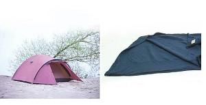 Set van 1 tent en 1 slaapzak